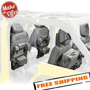 Smittybilt GEAR FrontRear Seat Covers w 7 Pouches 2013-2018 Jeep Wrangler 4dr