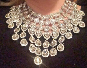 Showstopper! Crystal statement bib necklace Dannijo Erickson Beamon style