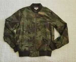 NEW MEN'S S L XL WALLACE & BARNES FOR J CREW CAMO MA-1 BOMBER JACKET CAMOUFLAGE