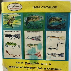 Vintage 1964 fall Fred Arbogast Fishing lure Catalog