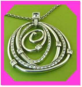 BRIGHTON CELESTIA Crystal Silver Pendant Lovely NECKLACE NWotag