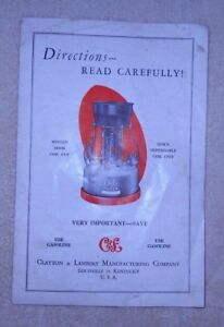 Vintage CLAYTON & LAMBERT Fire Pot Smelter Lead Melter Directions Manual