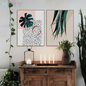 Nordic Style Green Plant Leaf Poster Prints Home Decor Wall Art Canvas Paintings