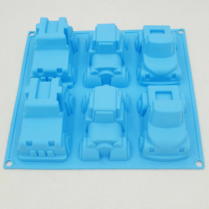 6 Cups Car Truck Silicone Mold Chocolate Cake Candy Cupcake Mold Baking Tools