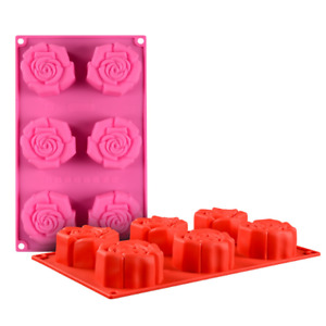 NEW Silicone Rose Shape Cake Mold Muffin Chocolate Cake Candy Cookie Baking Mold $8.47