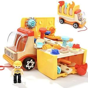 TOP BRIGHT Construction Tools Toddler Toys Set For 2 Year Old Boy Gifts Trucks