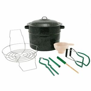 8 Piece 21.5 Quart Water Bath Canner Set Complete Home Canning Tool Starte..