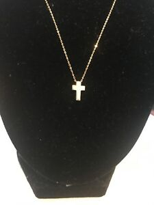Ross Simon 14kt Gold Cross Pendant (Retail In Catalogue And On-line $150)