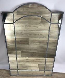 Carvers Guild Elizabeth #8045 Leaded Stain Glass Style Mirror Carol Canner