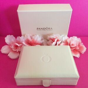 Pandora Pink Leather Jewelry Box Bracelet Bead 6.5 X 5