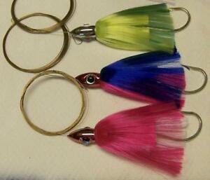 DR J  Bullet Head Wahoo Lure Pin Rigged for Large Hoo's