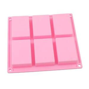 Cake Mold 6 Cavity Rectangle Mold Silicone For Candy Chocolate CF $6.97