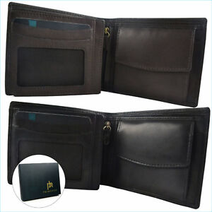 New PrimeHide Mens Quality Leather Wallet Coin Pocket Gift Boxed Dad