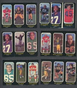 1972 OPC CFL Trio Stickers Inserts  Lot of 13  Theismann  O-Pee-Chee Vintage CFL