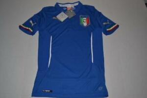 PUMA SOCCER SPORTS ITALIA FIGC WORLD CUP BLUE DRY FIT POLO SHIRT MENS SIZE S NEW
