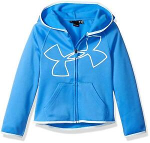 Under Armour Girls' UA Logo Zip Hoodie