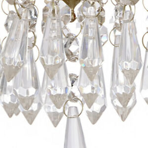 30x Acrylic Crystal Hanging Bead Chandelier Garland Wedding Curtain Party Decors