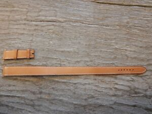 NEW Hermes Double wrap leather Watch Bracelet strap Band 17 MM Tan Natural 17mm