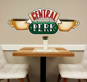 Central Perk #2 Wall Decal Friends TV Show Coffee Shop Decor Peel and Stick