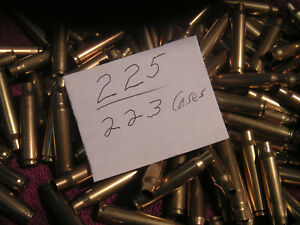 225 EMPTY BRASS RELOADING CASES 223 HUNTING SPORTING