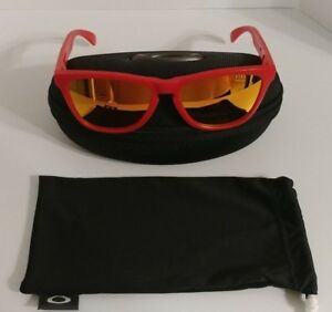 OAKLEY Frogskins OO9013 48 55mm Sunglasses Matte Red Frame Yellow Flash Lenses