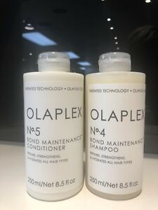 Set 2 Olaplex No 4 & No 5 Bond Maintenance Shampoo & Conditioner 8.5oz