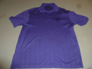 TIGER WOODS COLLECTION GOLF NIKE DRY FIT  POLO SHIRT SIZE L PURPLE MENS