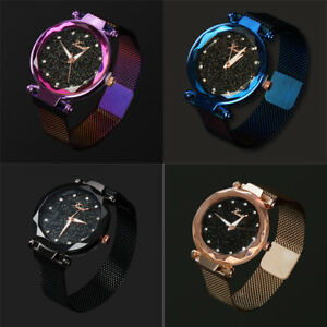 Ladies Women Starry Sky Watch Magnetic Luxury Strap Buckle Fashion Star Gifts US