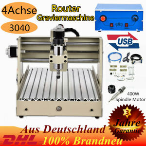 4 AXIS 3040 USB Router Engraving Drilling Mill Machine Cutter 400W Spindle Motor