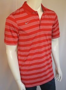 NIKE Better World Game Time Polo Shirt Dry Fit Men's SZ Medium in University Red