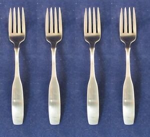 SET OF FOUR Oneida Stainless Flatware PAUL REVERE Salad Forks USA quot;Oneidaquot; $19.99