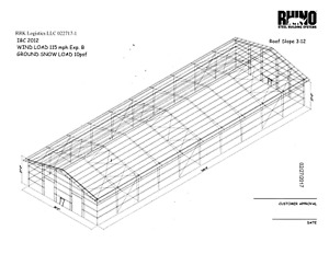 Rhino Steel Building 19200 Sq. Ft.  80ft x 240ft - New never Installed