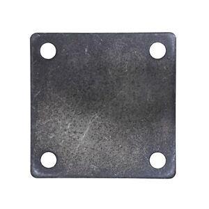 FLAT SQUARE STEEL METAL BASE PLATE 5 x 5 x 1 4 THICKNESS 3 8 HOLE QTY 4 $23.00