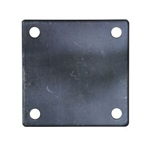 FLAT SQUARE STEEL METAL BASE PLATE 6 x 6 x 1 4 THICKNESS 3 8 HOLE QTY 4 $18.00