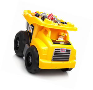 Mega Bloks Truck Benne CAT vehicle and game of construction 25 parts toy p