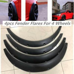 Car SUV 4pcs Black Flexible Fender Flares Durable Polyurethane Universal Kits US