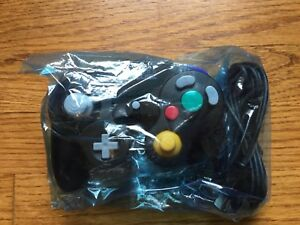 Nintendo Gamecube Original Authentic Black Controller BRAND NEW usa OEM fastship