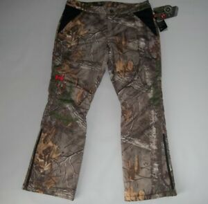 UNDER ARMOUR Insulated EXTREME Realtree CAMO Hunting PANTS Womens Size 12 NEW