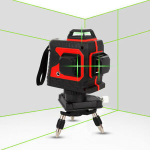 3D Laser Level 360 Degree 12Line Self-Leveling Tool for Construction Green Laser