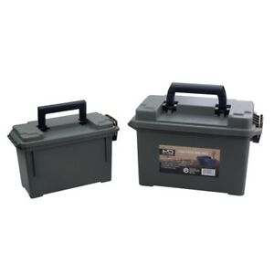 Ammo Storage Boxes Heavy Duty Gauge Plastic Water Resistant Tongue Groove Lid