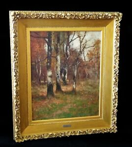 1880s GermanUSNY Oil Painting