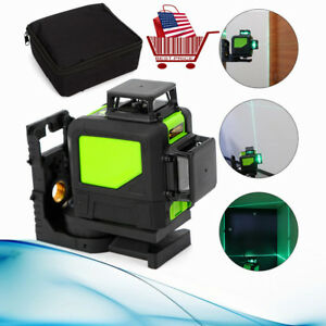 Laser Level 8 Lines Green Self Leveling 3D 360° for Construction and Building