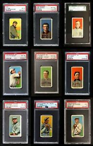 1909-11 T206 Baseball Partial Complete Set VGEX