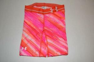 UNDER ARMOUR HEAT GEAR FITNESS WORKOUT PINK SPANDEX SHORTS GIRLS SIZE XS $12.00