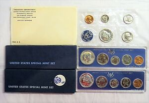 Three United States Special Mint Sets 1965 1966 1967 SMS Lot w Free Shipping