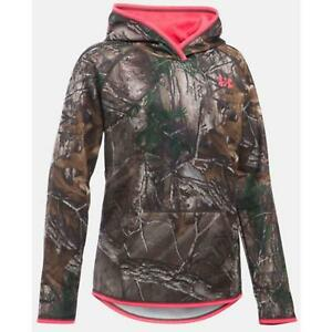 Under Armour Girl's Icon Camo Hoodie YM RTX 1279573