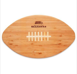 SEATTLE SEAHAWKS - Cutting Board  Serving Tray NFL FOOTBALL Touchdown Pro BAMBOO
