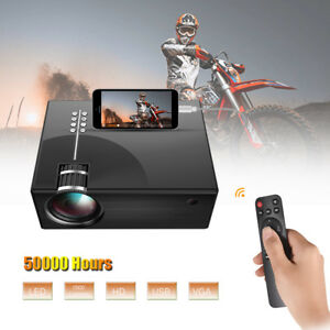 Multimedia Full HD 1080P LED LCD Display Cinema Projector USB VGA SD AV Hot P7J2