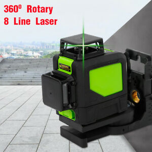 8 Lines Laser Level Green Self Leveling 3D 360° for Construction and Building