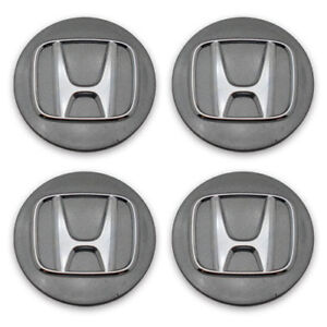 Honda Accord Civic Accord CRZ Fit 09-15 Dark Gray OEM Wheel Center Cap 64046 Set